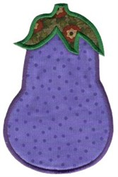 Eggplant Applique embroidery design