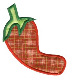 Chili Pepper Applique embroidery design