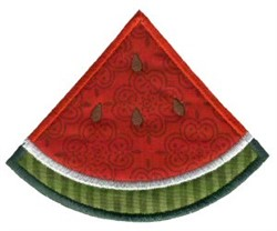 Watermelon Slice Applique embroidery design