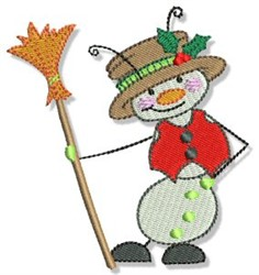 Buggin Out Christmas Snowman embroidery design