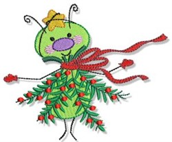 Buggin Out Christmas Tree embroidery design