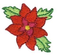 Christmas Mini Poinsettia embroidery design