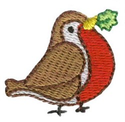 Christmas Mini Bird embroidery design