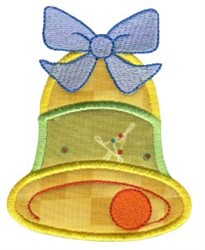 Christmas Bell Applique embroidery design