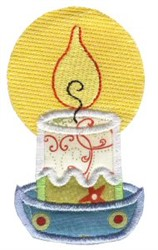 Christmas Candle Applique embroidery design