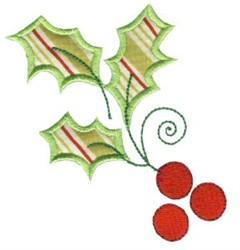 Christmas Holly Applique embroidery design