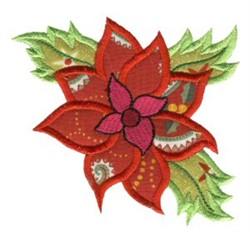 Christmas Poinsettia Applique embroidery design