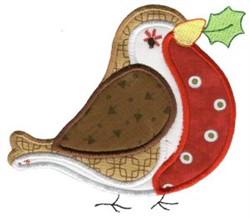 Christmas Bird Applique embroidery design