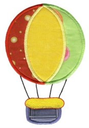 Hot Air Balloon On The Move Applique embroidery design