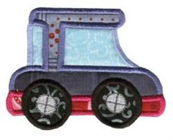 Car On The Move Applique embroidery design