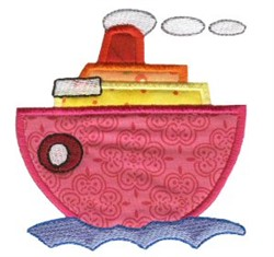 Boat On The Move Applique embroidery design