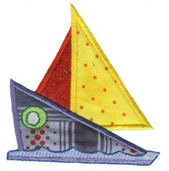 Sailboat On The Move Applique embroidery design