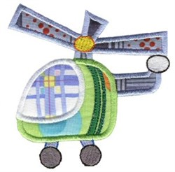 Helicopter On The Move Applique embroidery design