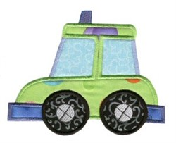 Cab On The Move Applique embroidery design