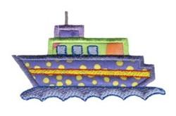 Ship On The Move Applique embroidery design
