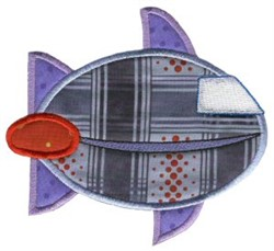Spacecraft On The Move Applique embroidery design