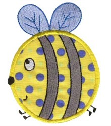 Roundys Bee Applique embroidery design