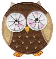 Roundys Owl Applique embroidery design