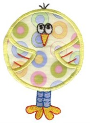 Roundys Chick Applique embroidery design