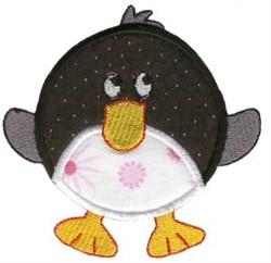 Roundys Penguin Applique embroidery design