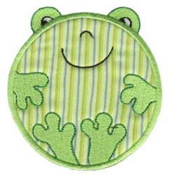 Roundys Frog Applique embroidery design