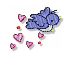 Valentines Mini Bird embroidery design