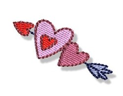 Valentines Mini Hearts Arrow embroidery design