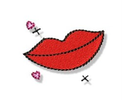 Valentines Mini Kiss embroidery design