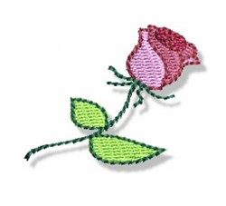 Valentines Mini Rose embroidery design