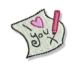 Valentines Mini Letter embroidery design