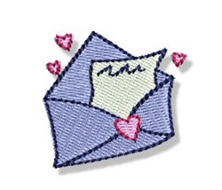 Valentines Mini Love Letter embroidery design