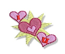 Valentines Mini Hearts embroidery design