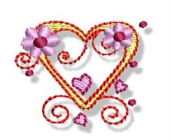 Valentines Mini Heart embroidery design