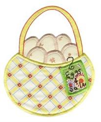 Easter Eggs Basket Applique embroidery design