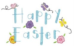 Happy Easter Applique embroidery design