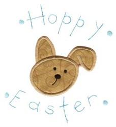 Hoppy Easter Rabbit Doodle Applique embroidery design