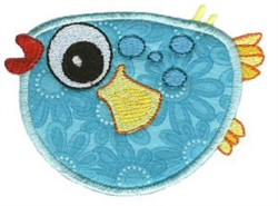 Pufferfish Sea Squirts Applique embroidery design