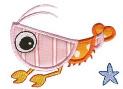 Shrimp Sea Squirts Applique embroidery design