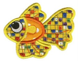 Beta Fish Sea Squirts Applique embroidery design