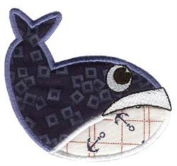 Whale Sea Squirts Applique embroidery design