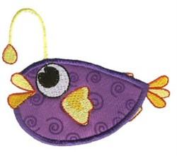 Anglerfish Sea Squirts Applique embroidery design