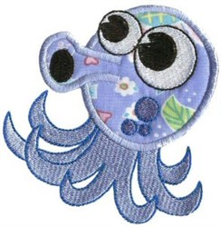 Octopus Sea Squirts Applique embroidery design