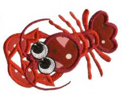 Lobster Sea Squirts Applique embroidery design