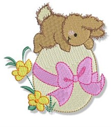 Easter Rabbit Parade & Egg embroidery design