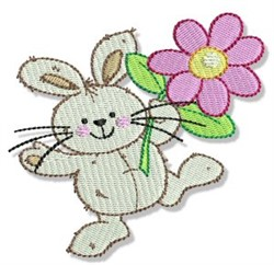 Easter Parade Daisy Rabbit embroidery design