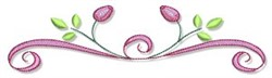 Swirly Spring embroidery design