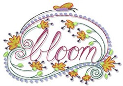 Swirly Spring Bloom embroidery design