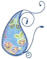 Paisley Applique embroidery design