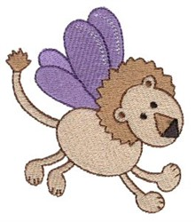 Lion Sprite embroidery design