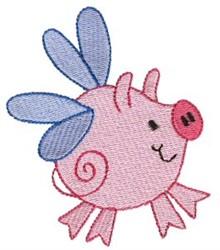 Piggy Sprite embroidery design